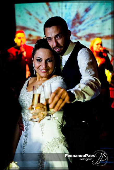 Dança dos Noivos em Preto e Branco no Buffet com Fernando Paes - Fotógrafo