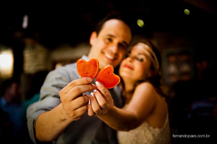 Noivos apaixonados na Fotografia de Casamento