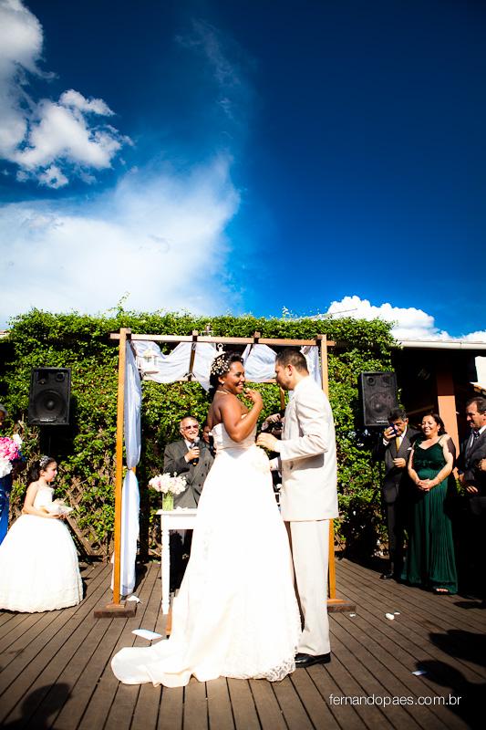 Céu azul casamento