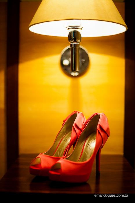 Fotos do Casamento - Sapato no Dia da Noiva