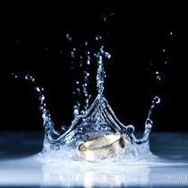 Splash de fotos das alianças de casamento